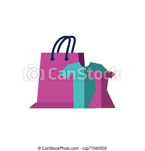 set clothes with shopping bag vector illustration design https www canstockphoto com set clothes with shopping bag 71040502 html