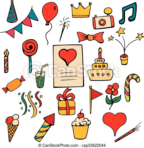 Set Color Happy Birthday Set Color Happy Birthday Signs And Symbols