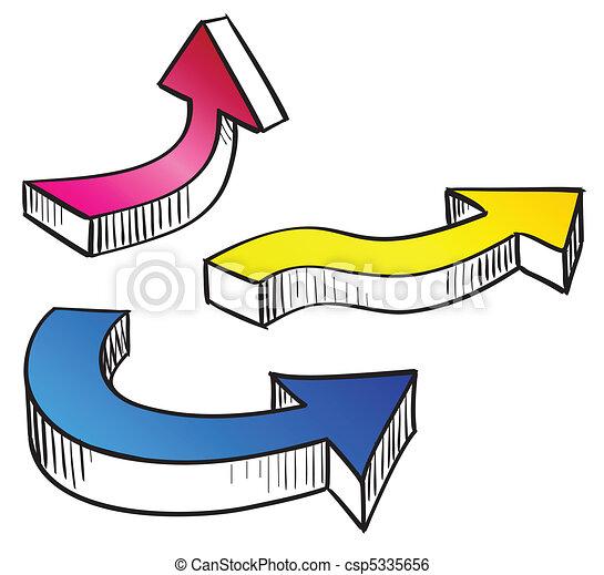 Set colorare illustrazione sketchy vettore disegno for Disegno 3d free