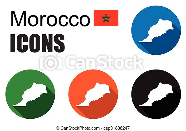 This is set colorful map flat icons state morocco eps vector set colorful map flat icons state morocco csp31838247 gumiabroncs Image collections