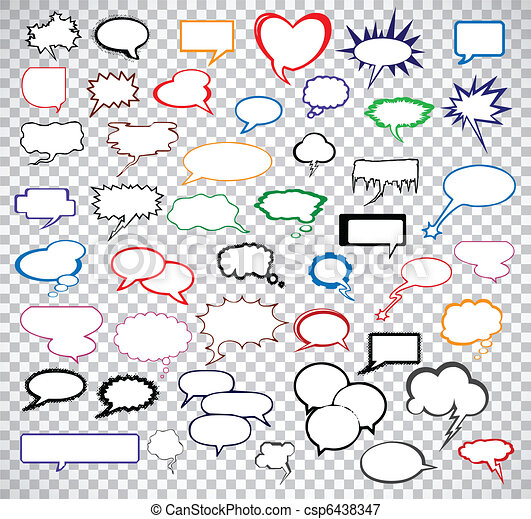 Set comic speech bubbles. Vector - csp6438347