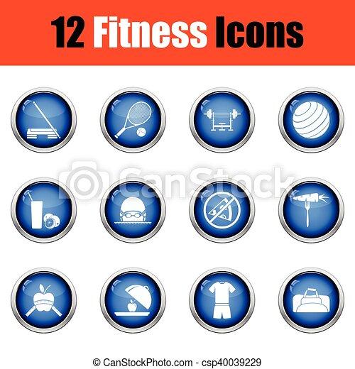 set., condicão física, ícone - csp40039229