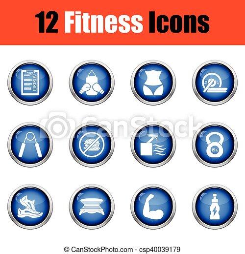 set., condicão física, ícone - csp40039179