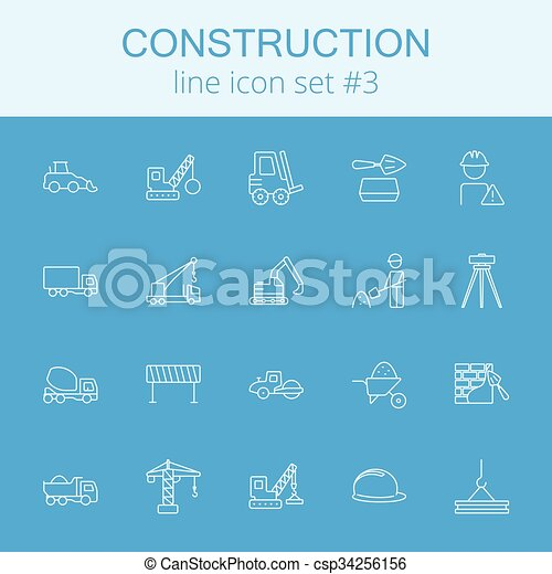 set., construção, ícone - csp34256156