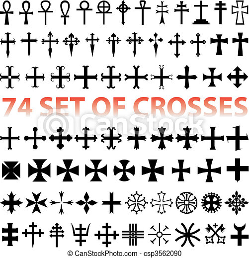Set Crosses vector - csp3562090