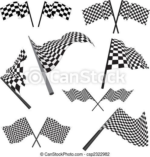 set, da corsa, bandiere - csp2322982