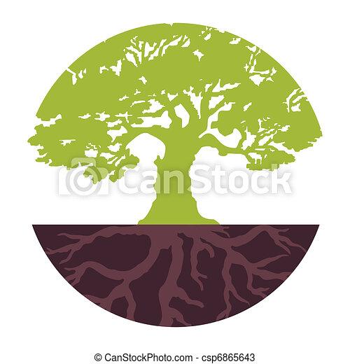 Set Eco Tree. Vector - csp6865643