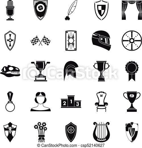 set, eenvoudig, stijl, bounty, iconen - csp52140627