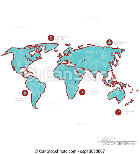 Set elements of infographics world map and information clip set elements of infographics world map and information graphics vector illustration world map gumiabroncs Gallery