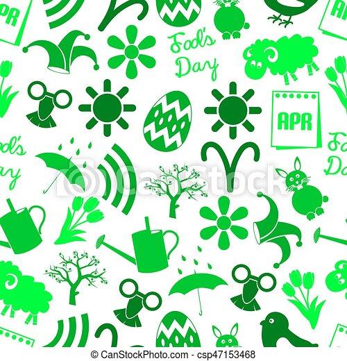 set, eps10, iconen, eenvoudig, model, seamless, maand, april, thema, groene - csp47153468