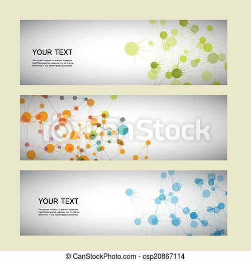 set, eps10, netwerk, verbinding, vector, dna - csp20867114