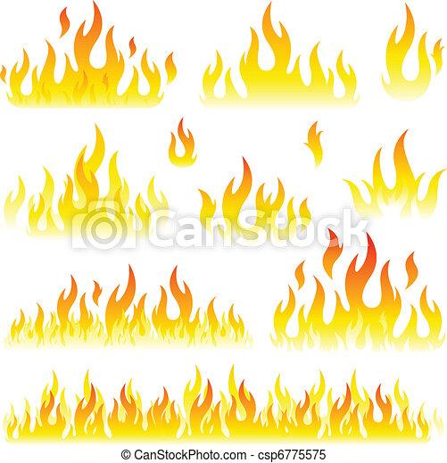 set, fiamme, collezione - csp6775575