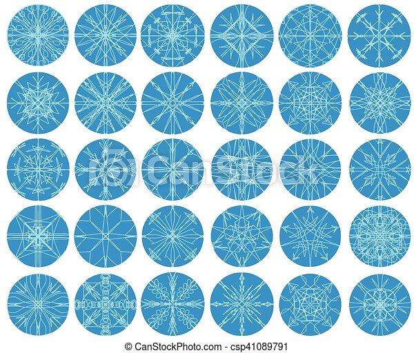 set, fiocco di neve, inverno - csp41089791