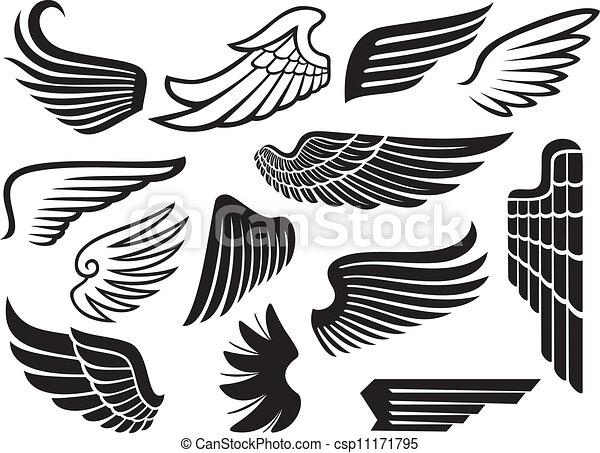 (set, flügeln, sammlung, wings) - csp11171795