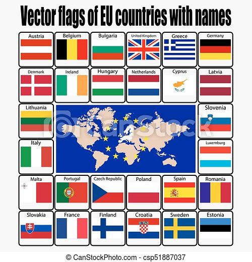 Image result for the name of european union countries