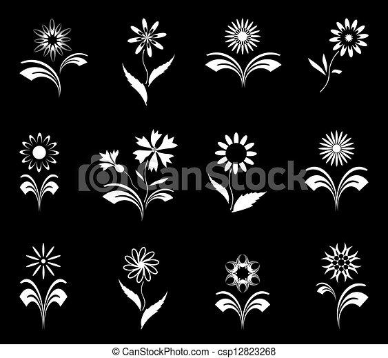 set., flores - csp12823268