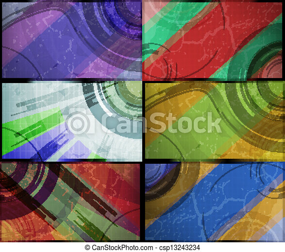 set for abstract vector background, technology futuristic illustration eps10 - csp13243234