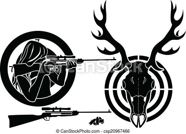 isolated stencil symbol set for deer hunting target deer clip rh canstockphoto com deer hunting clipart free deer hunting clipart images