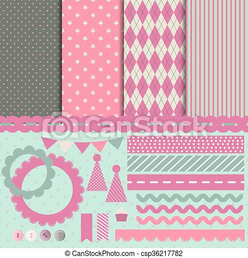 Set for scrapbooking - csp36217782