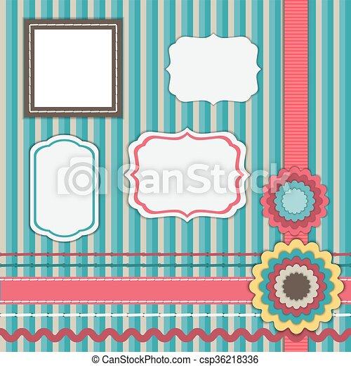 Set for scrapbooking, frames - csp36218336