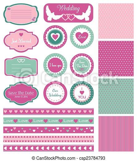 Set for wedding design - csp23784793