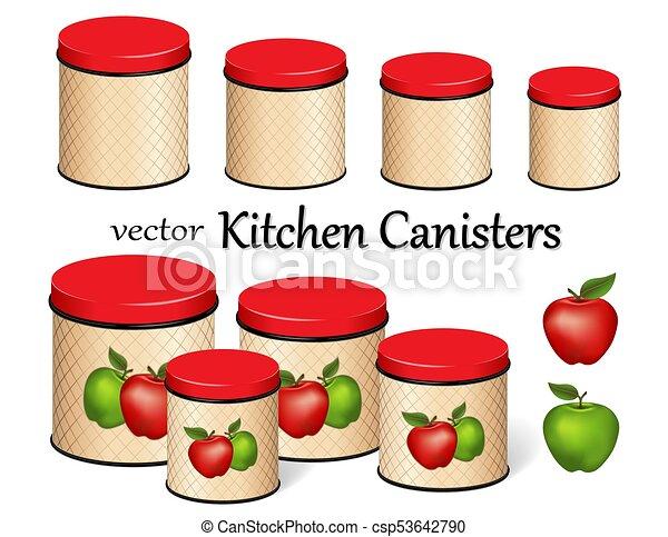 Set, formati, cibo, magazzino, quattro, grata, mele, scatola ...
