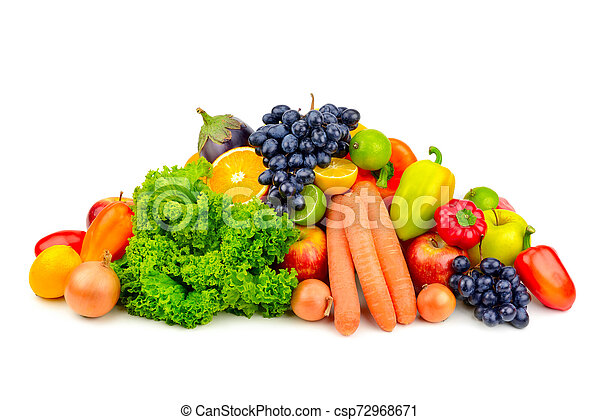 set fruit and vegetables - csp72968671