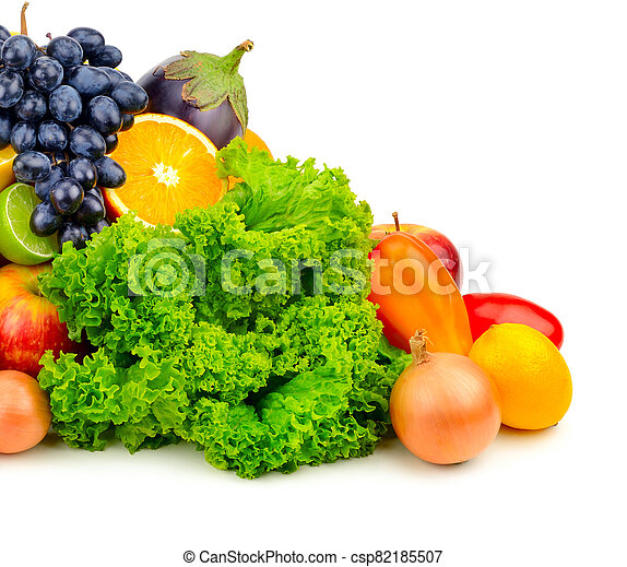 set fruit and vegetables - csp82185507