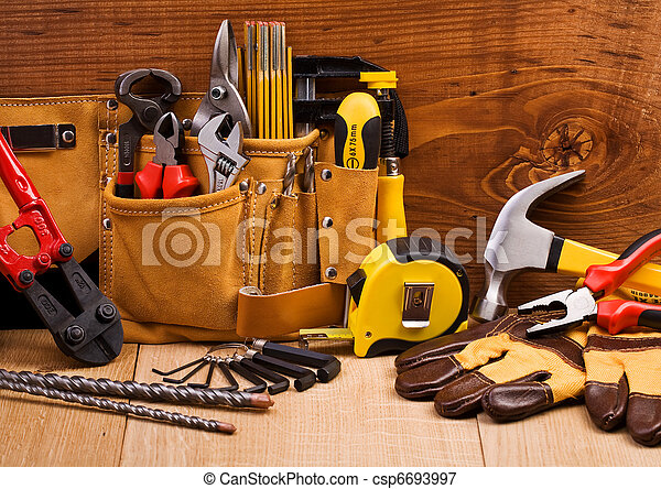 set, gereedschap, werkende  - csp6693997