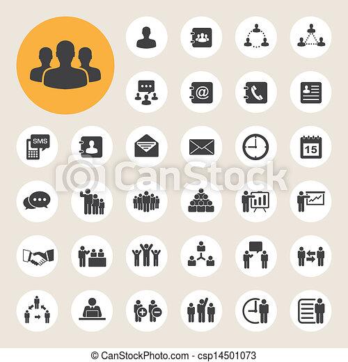 Business Icons eingestellt. Illustration - csp14501073