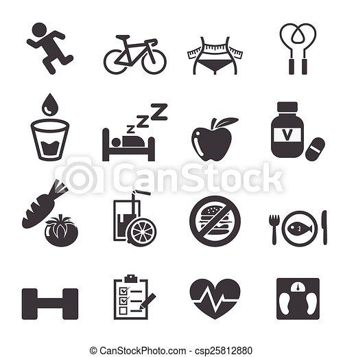 set, gezondheid, pictogram - csp25812880