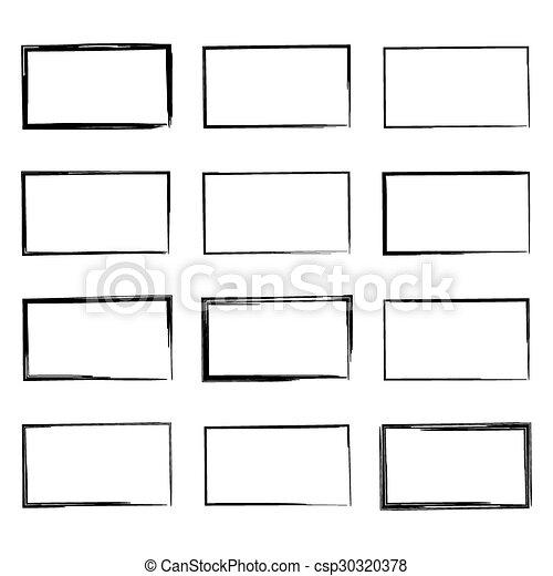 Set hand drawn square. - csp30320378