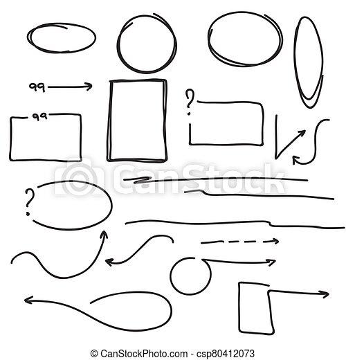 Set hand drawn text box. - csp80412073