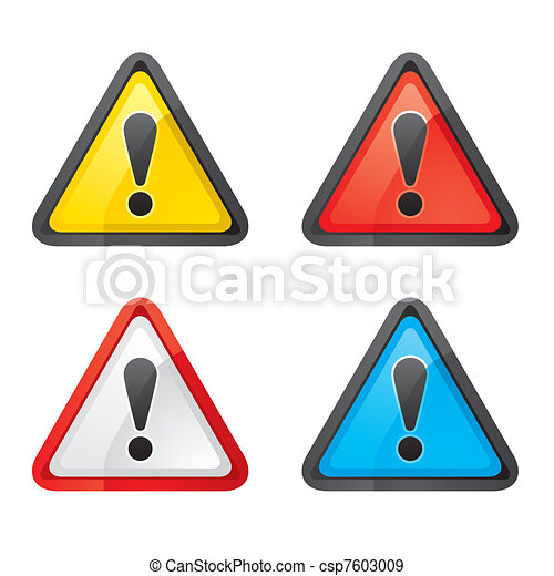 Set Hazard warning attention sign - csp7603009