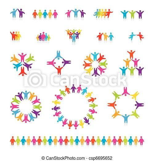 set-icon-people-team - csp6695652