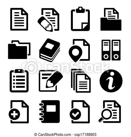 Documentos y iconos de carpetas. - csp17188903