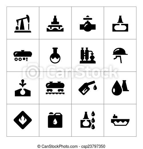 Set icons of oil industry - csp23797350