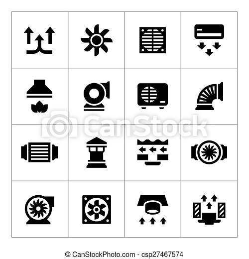Set icons of ventilation and conditioning - csp27467574
