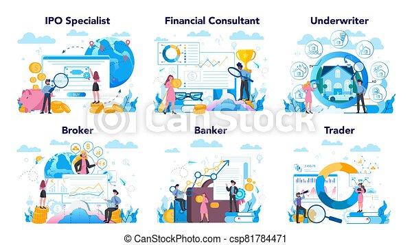 set., idea, finanzas, acción, financiero, profesión, inversión, mercado - csp81784471