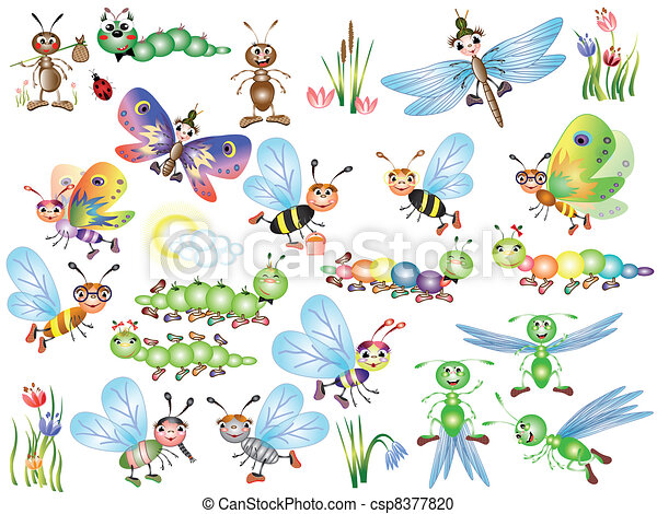 Set insects - csp8377820