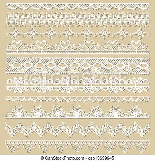 set, kant, -, vector, ontwerp, plakboek, linten - csp13639945