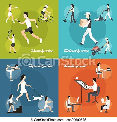 set, lichamelijke activiteit - csp30609675