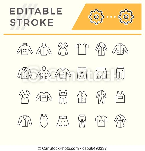 Set line icons of clothes - csp66490337