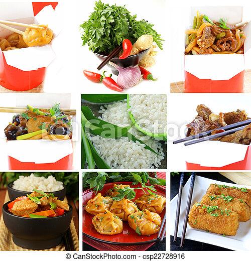 Set menu of Chinese food  - csp22728916