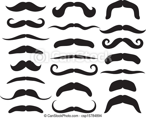 set, mustache - csp15784894