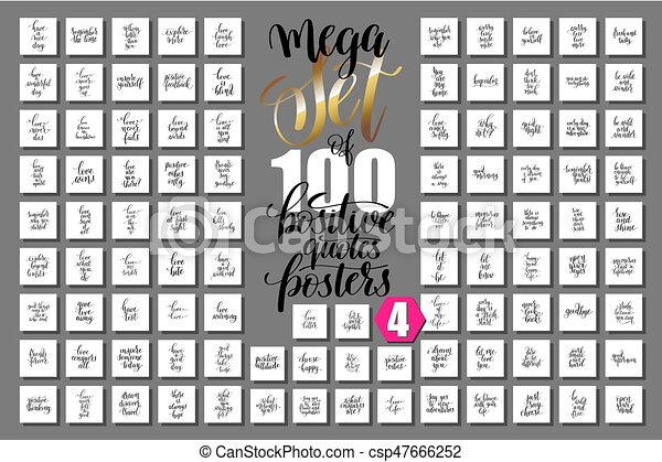 Life Quote Posters Prepossessing Mega Set Of 100 Positive Quotes Posters About Love And Life