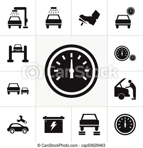 Set Of 12 Editable Car Icons Includes Symbols Such As Clip Art