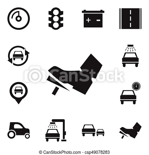 Set Of 12 Editable Transport Icons Includes Symbols Such As Vehicle