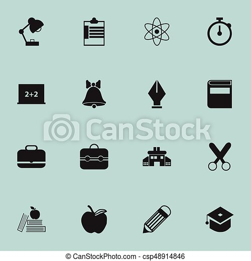 Set Of 16 Editable Education Icons Includes Symbols Such As