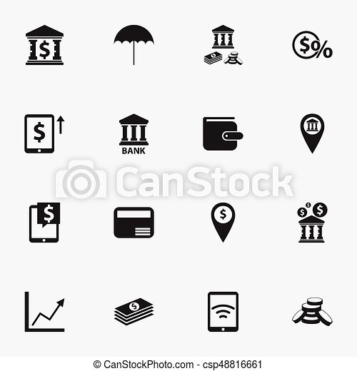 Set Of 16 Editable Financial Icons Includes Symbols Such As Diagram